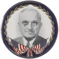 """Political:Pinback Buttons (1896-present), Harry S. Truman: A Classic 9"""" Button By Philadelphia Badge Company...."""