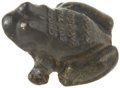 """Political:3D & Other Display (pre-1896), """"I Croak For The Jackson Wagon"""" Cast Iron Frog Doorstop. ..."""