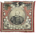 Political:Textile Display (pre-1896), Benjamin Harrison: The Most Desirable 1888 Bandanna Variety.Ironically, the most valuable Harrison bandanna is a single pic...