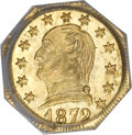 California Fractional Gold, 1872 25C Washington Octagonal 25 Cents, BG-722, Low R.4, MS65PCGS....