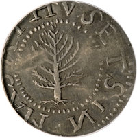1652 SHILNG Pine Tree Shilling, Large Planchet--Clipped--NCS. XF Details....(PCGS# 23)