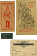 General Historic Events:World Fairs, World's Columbian Exposition: Tickets and Passes to Attractions and Performances,... (Total: 4 Items)