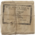 """Military & Patriotic:Pre-Civil War, Mint, Unopened, String Tied Pack of """"Rifle, Musket & Rifle, 58 65 Grains M. Powder St. Louis Arsenal 1864"""", Cartridges, which ..."""