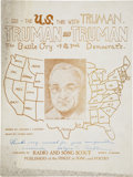 Political:Small Paper (1896-present), Harry S. Truman: A Rare Variety of Sheet Music Signed by the Author....