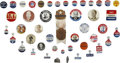 Political:Pinback Buttons (1896-present), Adlai Stevenson: Group of Forty-Five Campaign Badges, Buttons, and Pins. ... (Total: 45 Items)
