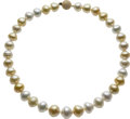 Estate Jewelry:Necklaces, Multi-Color Cultured Pearl, Gold Necklace. ...