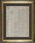 Military & Patriotic:Civil War, Evening Edition of The New York Tribune, July 3, 1863. Contains apparently the first reports of the Battle of Ge...
