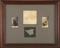 """Military & Patriotic:Civil War, An Approximately 2"""" Square Piece of the Fort Sumter Storm Flag. The piece is accompanied by an ink script note from Peter Ha..."""