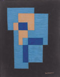 Works on Paper, EMIL JAMES BISTTRAM (American, 1895-1976). Abstract, 1941. Encaustic on paper. 14 x 11 inches (35.6 x 27.9 cm). Signed a...