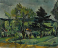 Fine Art - Painting, American:Modern  (1900 1949)  , HENRY VARNUM POOR (American, 1888-1970). Summer Landscape.Oil on canvas. 20 x 25 inches (50.8 x 63.5 cm). Signed lower ...