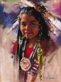 Works on Paper, HARLEY BROWN (Canadian/American, b. 1939). Fawn, Happy Dancer. Pastel on paper. 16-3/4 x 13 inches (42.5 x 33.0 cm). Sig...