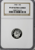 Proof Roosevelt Dimes: , 1960 10C PR69 Ultra Cameo NGC. NGC Census: (66/0). PCGS Population(111/0). Numismedia Wsl. Price for NGC/PCGS coin in PR6...