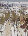Paintings, NIKOLAI EFIMOVICH TIMKOV (Russian, 1912-1993). Gurzuf, 1986. Oil on board. 8-3/4 x 6-1/2 inches (22.2 x 16.5 cm). Initia...