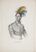 """Antiques:Posters & Prints, Print: Ahyouwaighs: Chief of the Six Nations. Partlycolored. 14.5"""" x 21"""". Ahyouwaighs (1794-1832), also known as Jo..."""