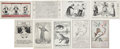 Political:Miscellaneous Political, Woman's Suffrage: Nine Different Propaganda Cartoon Cards. The ninecards in this lot were published by various organiza... (Total: 9Items)