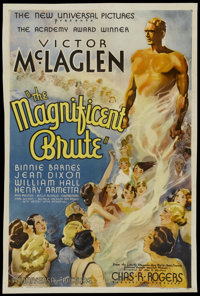 "Magnificent Brute (Universal, 1936). One Sheet (26.75"" X 40.5""). Drama"