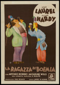 "Movie Posters:Comedy, The Bohemian Girl (MGM, 1936). Italian Poster (28"" X 39"").Comedy...."