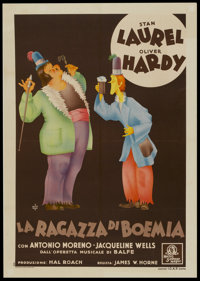 "The Bohemian Girl (MGM, 1936). Italian Poster (28"" X 39""). Comedy"