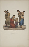 "Antiques:Posters & Prints, James Otto Lewis Print: Chippeway Squaws. Hand colored,11.50"" x 19"". Painted ""at the treaty of Fond du Lac, by J. O..."