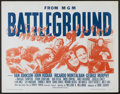 "Movie Posters:War, Battleground (MGM, R-1962). Half Sheet (22"" X 28""). War...."