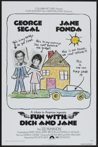 """Fun with Dick and Jane (Columbia, 1977). One Sheet (27"""" X 41""""). Comedy"""