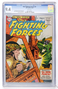 Our Fighting Forces #5 (DC, 1955) CGC NM 9.4 White pages