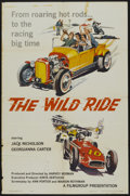 "Movie Posters:Crime, The Wild Ride (Filmgroup, Inc., 1960). One Sheet (27"" X 41""). Crime...."