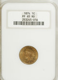 Proof Indian Cents, 1874 1C PR65 Red NGC....