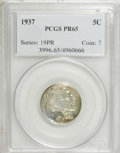 Proof Buffalo Nickels: , 1937 5C PR65 PCGS. PCGS Population (608/1112). Mintage: 5,769.Numismedia Wsl. Price for NGC/PCGS coin i...