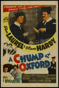 """Movie Posters:Comedy, A Chump at Oxford (Favorite Films, R-1946). One Sheet (27"""" X 41"""").Comedy...."""