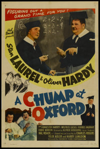"A Chump at Oxford (Favorite Films, R-1946). One Sheet (27"" X 41""). Comedy"