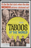 """Movie Posters:Documentary, Taboos of the World (American International, 1963). One Sheet (27"""" X 41""""). Documentary...."""