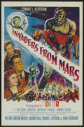 "Movie Posters:Science Fiction, Invaders From Mars (20th Century Fox, 1953). One Sheet (27"" X 41"").Science Fiction...."