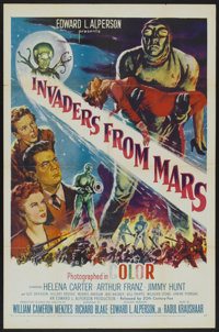 "Invaders From Mars (20th Century Fox, 1953). One Sheet (27"" X 41""). Science Fiction"