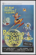 "Movie Posters:Animated, Pinocchio In Outer Space (Universal, 1965). One Sheet (27"" X 41""). Animated...."