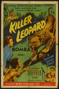 "Movie Posters:Adventure, Killer Leopard (Allied Artists, 1954). One Sheet (27"" X 41"").Adventure...."