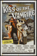 "Movie Posters:Horror, Kiss of the Vampire (Universal International, 1963). One Sheet (27"" X 41""). Horror...."