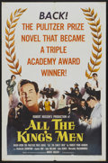 "Movie Posters:Academy Award Winner, All the King's Men (Columbia, R-1958). One Sheet (27"" X 41"").Academy Award Winner...."