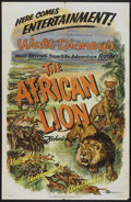 "Movie Posters:Documentary, The African Lion (Buena Vista, 1955). One Sheet (27"" X 41""). Walt Disney Documentary...."