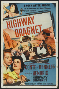 """Highway Dragnet (Allied Artists, 1954). One Sheet (27"""" X 41""""). Crime"""
