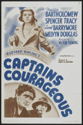 "Movie Posters:Adventure, Captains Courageous (MGM, R-1962). One Sheet (27"" X 41"").Adventure...."