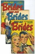 Golden Age (1938-1955):Romance, Teen-Age Brides and True Bride's Experiences #1-9 Group (Harvey,1953-54) Condition: Average VG+.... (Total: 9 Comic Books)