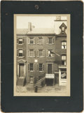 Photography:Cabinet Photos, Abraham Lincoln: A Scarce Oversized Cabinet Photo of the PetersonHouse in Which the President Expired on the Morning of April...
