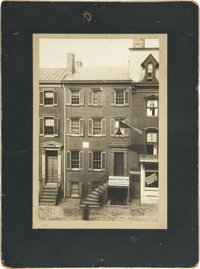 Abraham Lincoln: A Scarce Oversized Cabinet Photo of the Peterson House in Which the President Expired on the Morning of...
