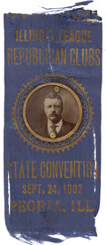 Political:Ribbons & Badges, Theodore Roosevelt 1902 Illinois Convention Badge....