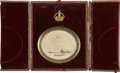 Military & Patriotic:Foreign Wars, Napoleon Bonaparte: Red Leather Case with Hair,...