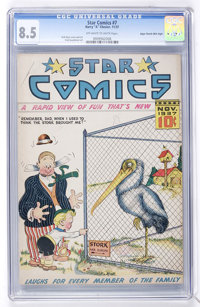 Star Comics #7 (Harry 'A' Chesler, 1937) Mile High pedigree CGC VF+ 8.5 Off-white to white pages