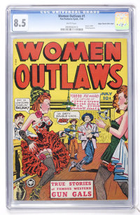 Women Outlaws #1 Mile High pedigree (Fox Features Syndicate, 1948) CGC VF+ 8.5 White pages