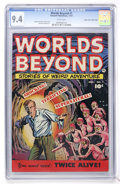 Golden Age (1938-1955):Horror, Worlds Beyond #1 Mile High pedigree (Fawcett, 1951) CGC NM 9.4White pages....