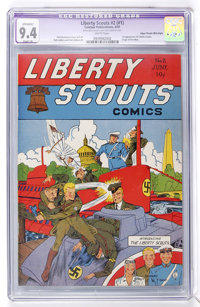 Liberty Scouts Comics #2 (#1) Mile High pedigree (Centaur, 1941) CGC Apparent NM 9.4 Slight (A) White pages